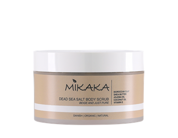 Mikaka, Dead Sea Salt Body Scrub – BEIGE AND JUST PURE, 250 g