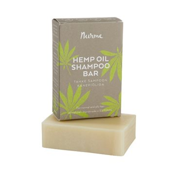 Nurme, Hemp oil shampoobar for normal & oily hair, 1 stk.